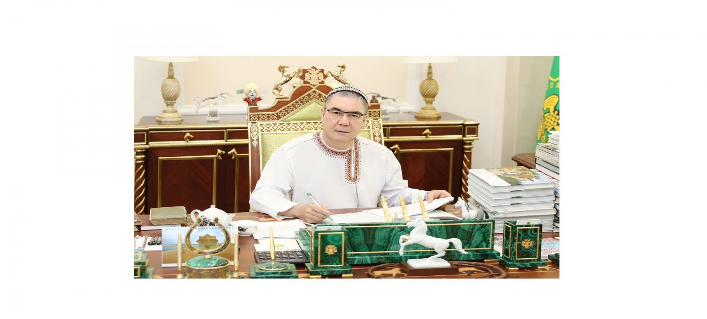 """PRESIDENT OF TURKMENISTAN COMPLETES WORK ON NEW BOOK """"THE SPIRITUAL WORLD OF THE TURKMEN PEOPLE"""""""
