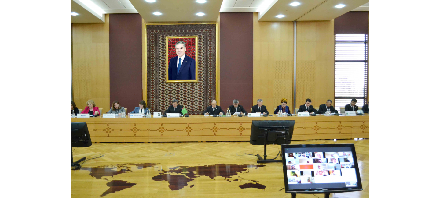 A BRIEFING ON THE IMPLEMENTATION OF TURKMENISTAN'S INTERNATIONAL INITIATIVES IN THE FIELD OF HEALTHCARE WAS HELD IN THE MINISTRY OF FOREIGN AFFAIRS